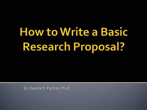 Title page of research proposal